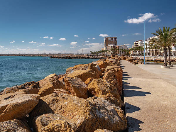 Wall Art - Photograph - Torrevieja See Front by Mike Walker