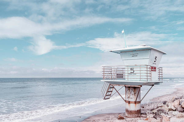 Photograph - Torrey Pines Beach Lightguard Station Number 5 by Wendy Fielding