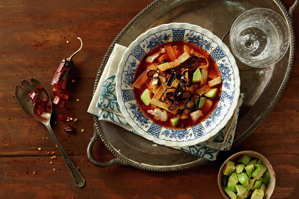 Tray Photograph - Tortilla Soup by Lew Robertson