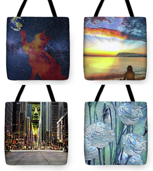 Digital Art - Tote Bags Samples by Alex Mir