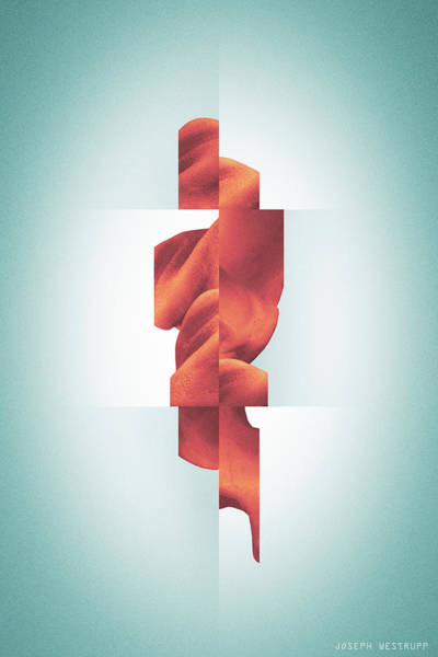 Photograph - Totem - Fractured Surreal Abstract Seashell Collage by Joseph Westrupp