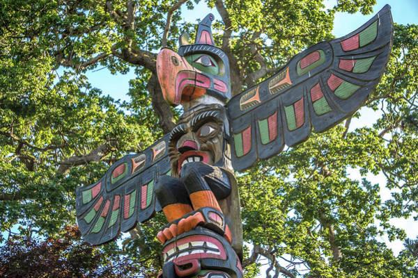 Photograph - Totem Pole At Thunderbird Park Victoria Bc Canada by Alex Grichenko