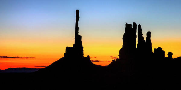 Photograph - Totem Silhouettes  by Harriet Feagin