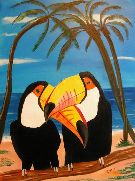 Painting - Toucan Love by Jim Lesher