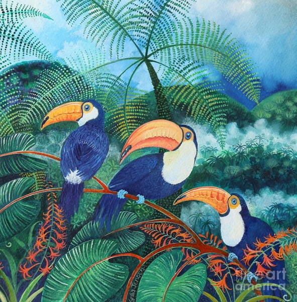 Wall Art - Painting - Toucans by Lisa Graa Jensen