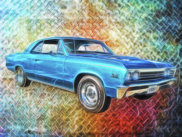 Digital Art - Tough 1967 Chevy Chevelle by Rick Wicker