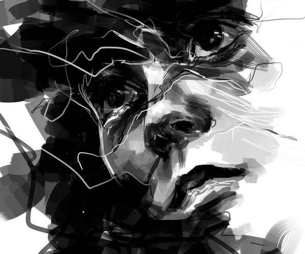 Boxer Painting - Tough by ArtMarketJapan