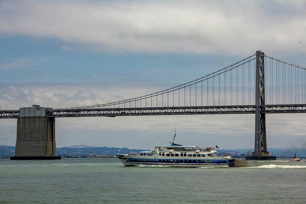 Wall Art - Photograph - Tour Boat And Bridge, Bay Area by Beth Partin