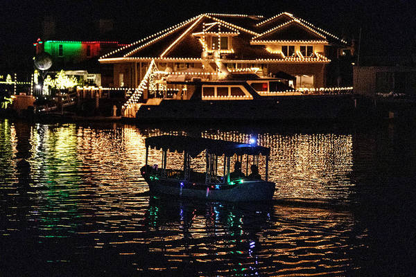 Wall Art - Photograph - Tour Boat At Christmas Time by Spencer Grant