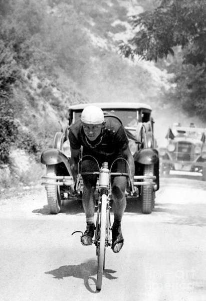 Wall Art - Photograph - Tour De France 1929, 13th Leg Cannes To Nice, Benoit Faure On The Braus Pass by Unknown