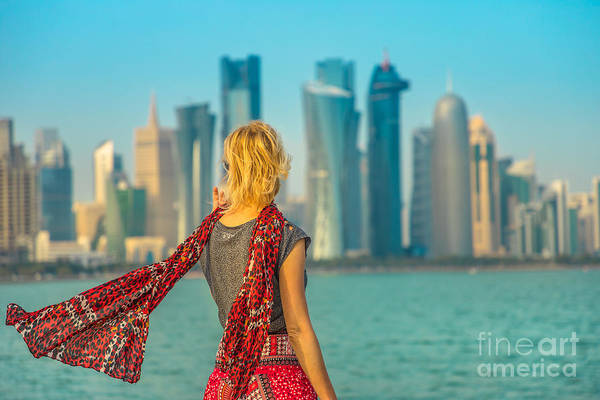 Photograph - Tourism In Doha West Bay by Benny Marty