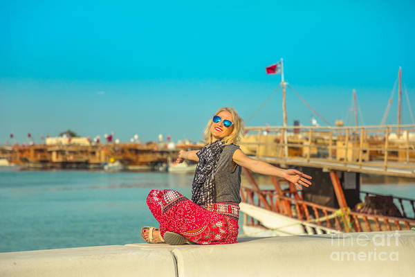 Photograph - Tourism In Qatar by Benny Marty