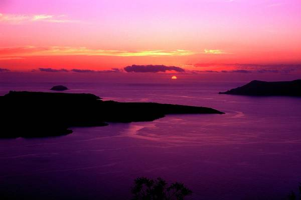 Wall Art - Photograph - Tourism Of Greece Beautiful Sunset In by Myloupe/uig