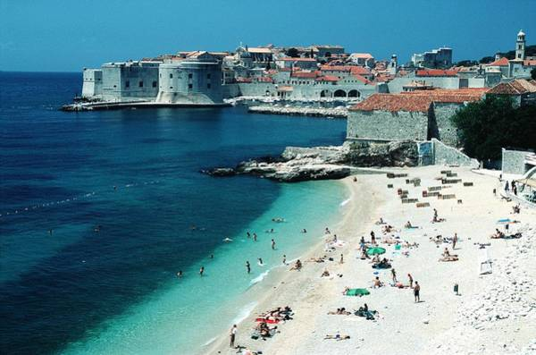 Dubrovnik Photograph - Tourism The Lopud Island In Dubrovnik by Chip Hires