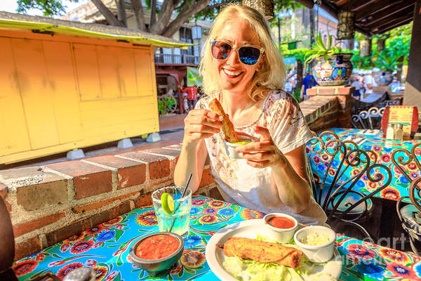Photograph - Tourist At El Pueblo Los Angeles by Benny Marty