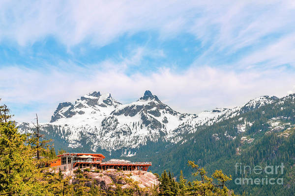 Wall Art - Photograph - Tourist Base Of A Ski Resort With A Cable Car Among Mountains by Viktor Birkus