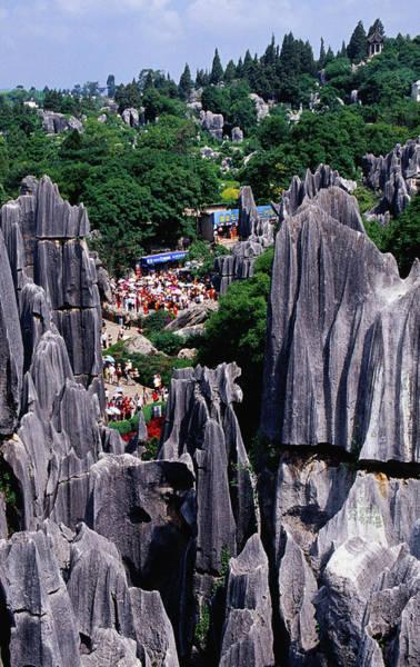 Toughness Photograph - Tourist Crowds At Stone Forest by Krzysztof Dydynski