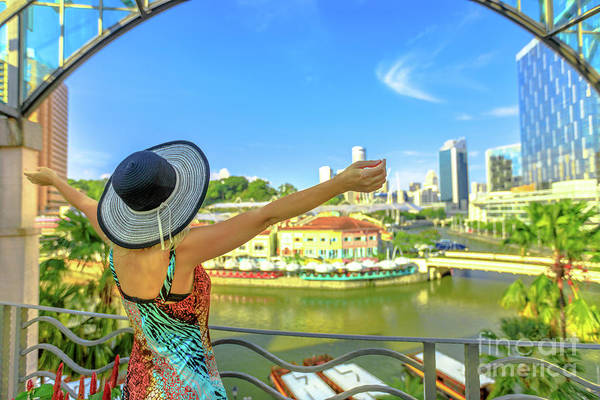 Photograph - Tourist In Clarke Quay by Benny Marty