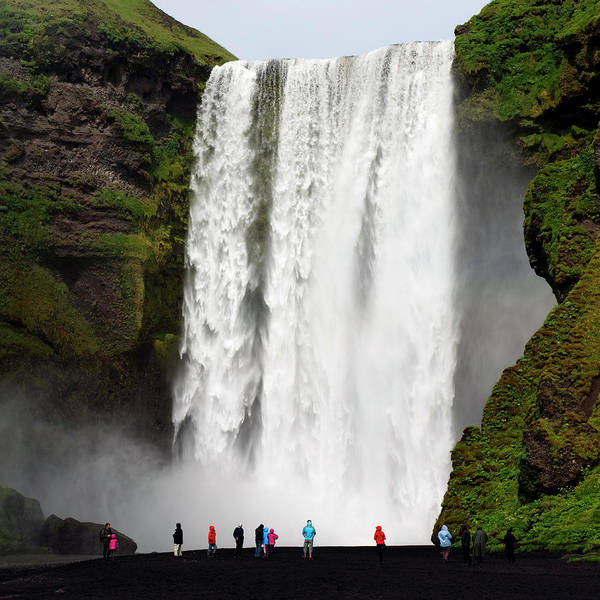 Wall Art - Photograph - Tourists At The Waterfall by Roine Magnusson