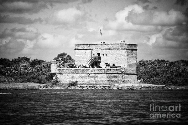 Wall Art - Photograph - tourists on Fort Matanzas national monument St Augustine Florida US USA by Joe Fox