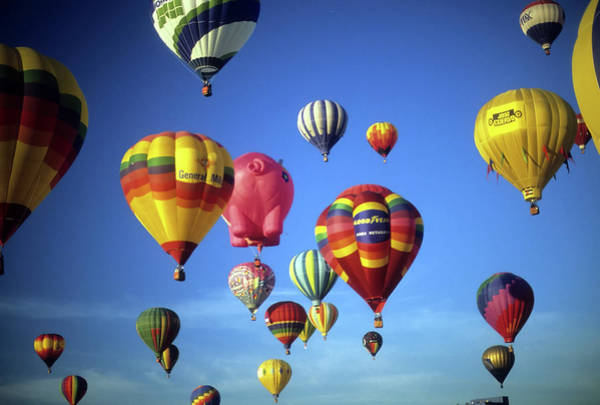 Photograph - Tourists Ride Hot Air Ballons   by Steve Estvanik