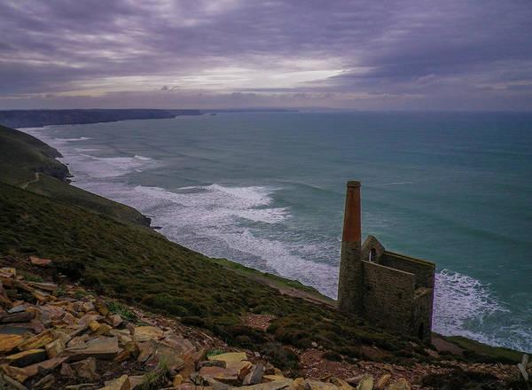 Wall Art - Photograph - Towanroath Pumping Engine House Wheal Coates Cornwall by Richard Brookes