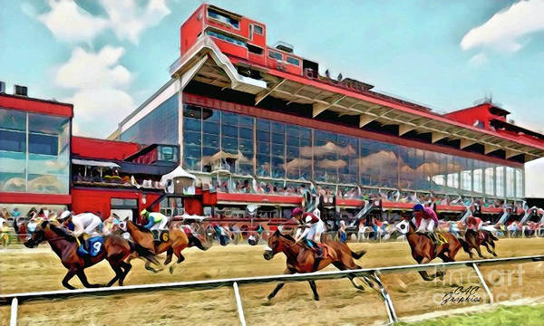 Digital Art - Toward The Finish At Pimlico by CAC Graphics