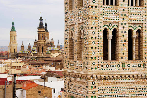 Aragon Photograph - Tower And Basilica Of Our Lady Of The by Radius Images
