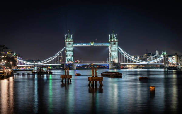 Photograph - Tower Bridge At Night by Framing Places