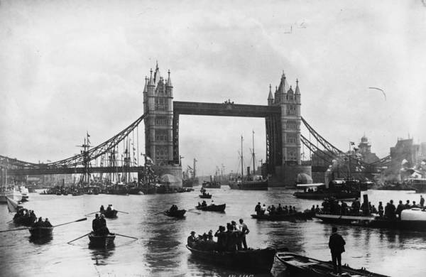 1894 Photograph - Tower Bridge by Francis Frith & Co
