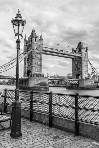 Photograph - Tower Bridge London And Light Post  by John McGraw