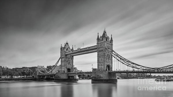 Wall Art - Photograph - Tower Bridge, London - Bw by Henk Meijer Photography