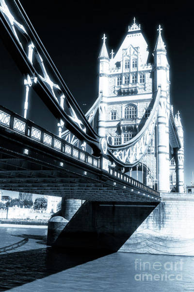 Photograph - Tower Bridge Profile In London by John Rizzuto