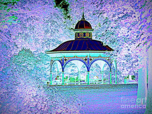 Aqua Tower Digital Art - Tower Grove Pavilion by Nancy Kane Chapman