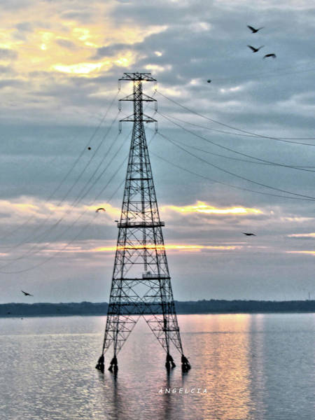 Photograph - Tower In The James River by Angelcia Wright