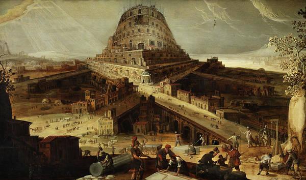 Wall Art - Painting - Tower Of Babel by Hendrik van Cleve