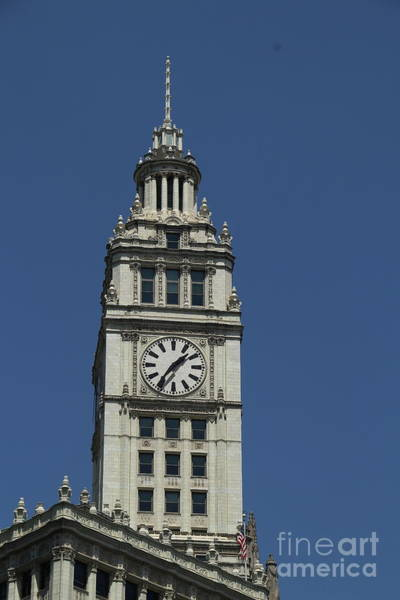 Wall Art - Photograph - Tower Of The Wrigley Building by Christiane Schulze Art And Photography