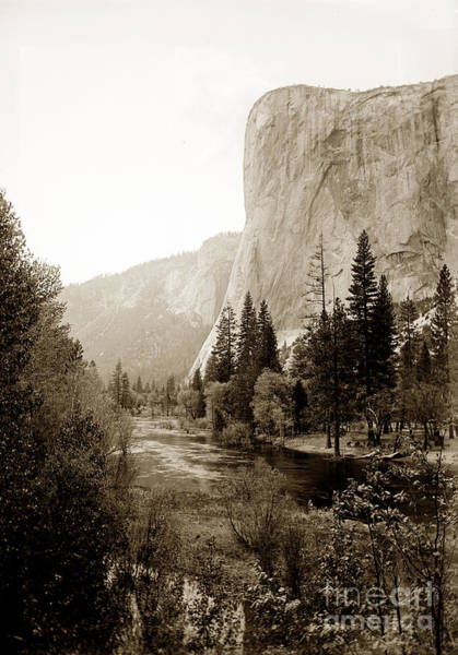 Photograph - Towering El Capitan From The Banks Of The Merced River, Yosemite by California Views Archives Mr Pat Hathaway Archives