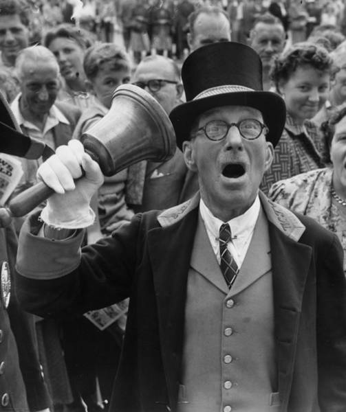 Top Hat Photograph - Town Crier by Fred Ramage