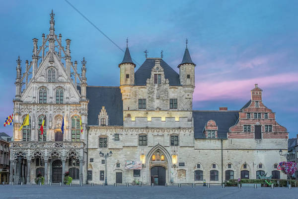 Photograph - Town Hall Mechelen At Dusk by Jemmy Archer