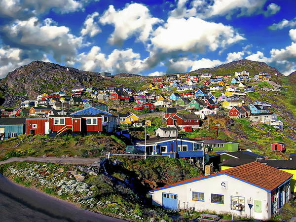 Photograph - Town Of Qaqortoq by Anthony Dezenzio
