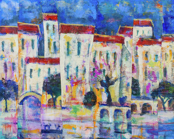 Painting - Town On The River 2 by Maxim Komissarchik