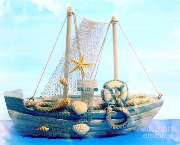 Wall Art - Mixed Media - Toy Boat In The Mist by Mesa Teresita