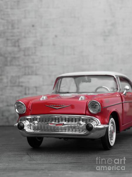 Photograph - Toy Chevy Bel Air Vintage Car by Edward Fielding