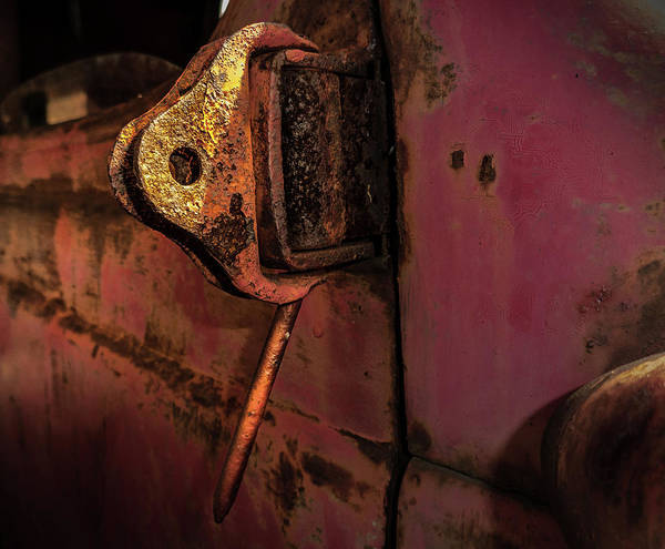 Photograph - Truck Hinge by Juan Contreras