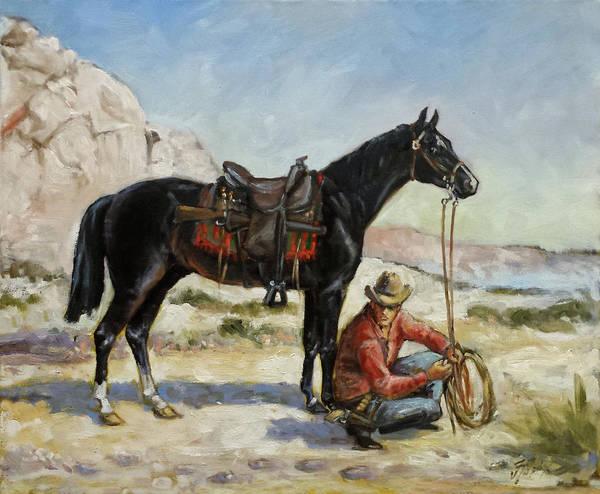 Wall Art - Painting - Tracking Stolen Horses by Irek Szelag