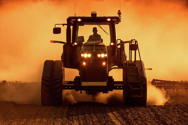 Photograph - Tractor And Dust by Todd Klassy