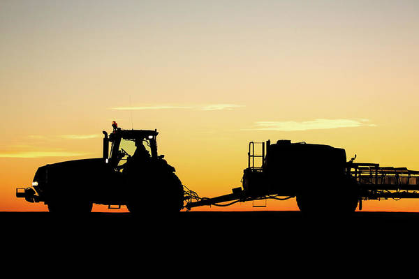 Wall Art - Photograph - Tractor And Sprayer Silhouette by Todd Klassy