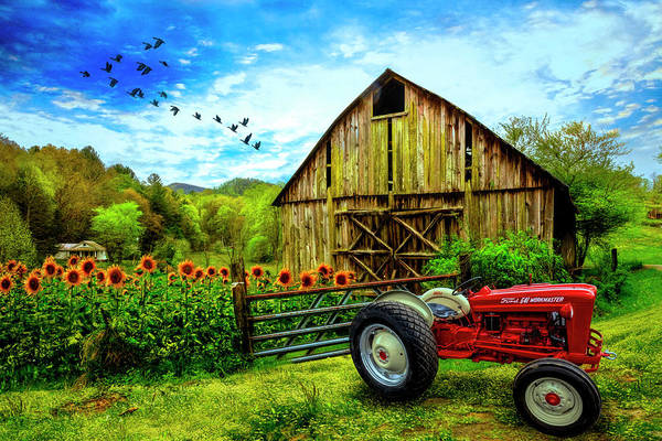 Wall Art - Photograph - Tractor At The Farm by Debra and Dave Vanderlaan