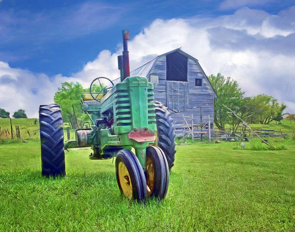 Wall Art - Photograph - Tractor - On The Farm by Nikolyn McDonald